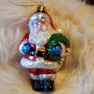 Other - Hand Blown Glass Vintage Santa Ornament